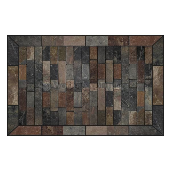 Heritage Rectangular Hearth Pad - Western Flagstone image number 0