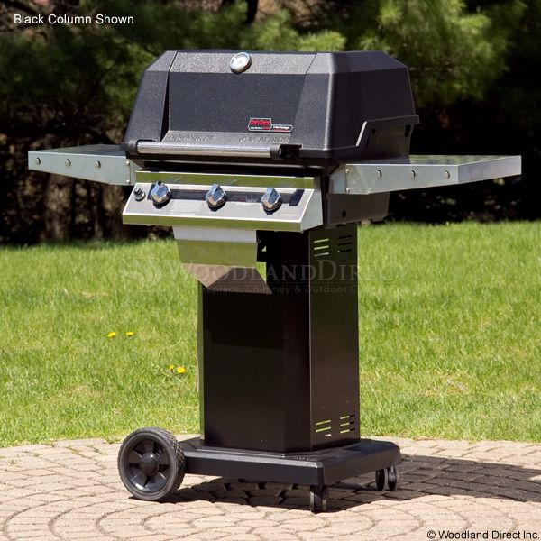 "Heritage WHRG4DD Hybrid Gas Grill - Stainless Steel Column 8"" Wheeled Cart image number 1"