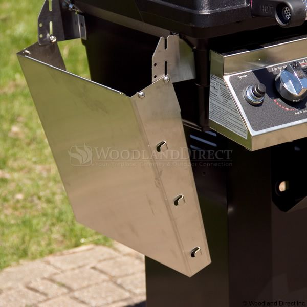 """Heritage WHRG4DD Hybrid Gas Grill - Stainless Steel Column 8"""" Wheeled Cart image number 6"""