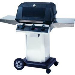 """Heritage WHRG4DD Hybrid Gas Grill - Stainless Steel Column 8"""" Wheeled Cart"""