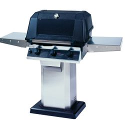 Heritage WHRG4DD Hybrid Gas Grill - Stainless Steel Column Mount