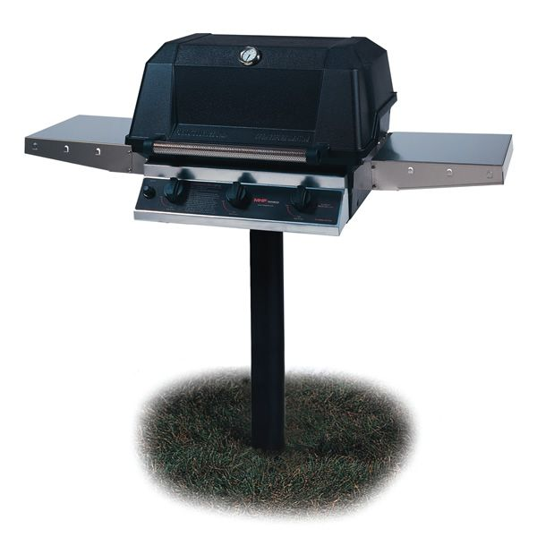 Heritage WHRG4DD In-Ground Post-Mount Hybrid Gas Grill image number 0