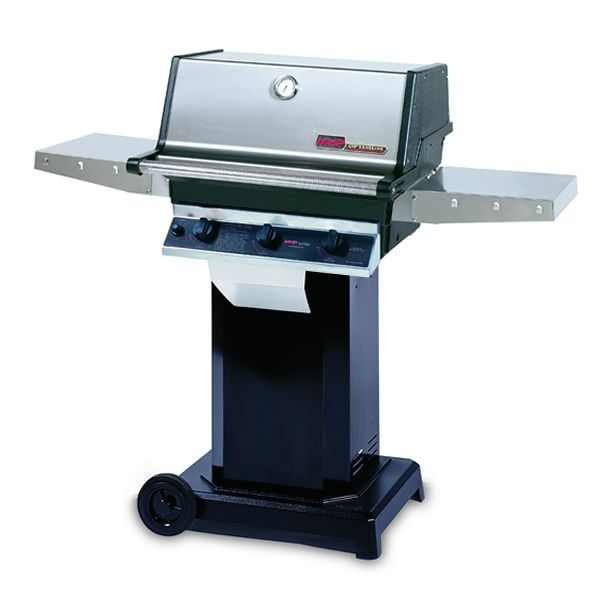 "Heritage THRG2 Hybrid Gas Grill - Black Column 6"" Wheeled Cart image number 0"