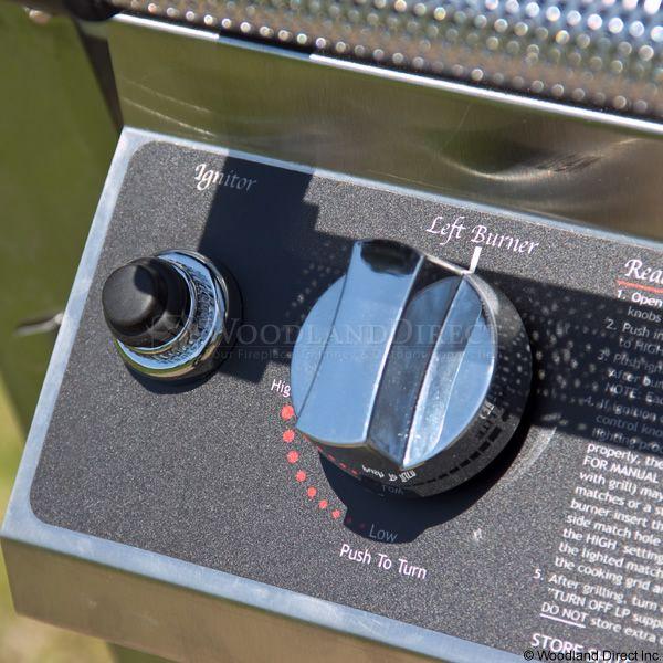 "Heritage THRG2 Hybrid Gas Grill - Black Column 8"" Wheeled Cart image number 6"