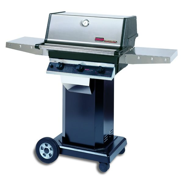 "Heritage THRG2 Hybrid Gas Grill - Black Column 8"" Wheeled Cart image number 0"