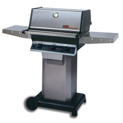 """Heritage THRG2 Hybrid Gas Grill - Stainless Steel Column 6"""" Wheeled Cart"""