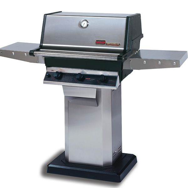 Heritage THRG2 Hybrid Gas Grill - Stainless Steel Column Mount image number 0