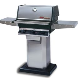 Heritage THRG2 Hybrid Gas Grill - Stainless Steel Column Mount