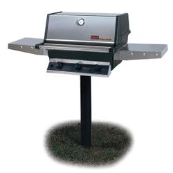 Heritage THRG2 In-Ground Post-Mount Hybrid Gas Grill