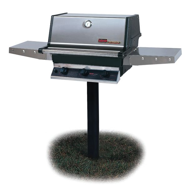 Heritage THRG2 In-Ground Post-Mount Hybrid Gas Grill image number 0