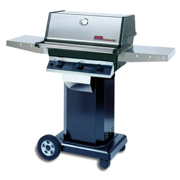"Heritage TJK Gas Grill - Black Column 8"" Wheeled Cart image number 0"