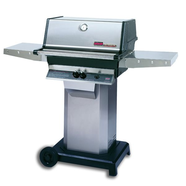 "Heritage TJK Gas Grill - Stainless Steel Column 6"" Wheeled Cart image number 0"