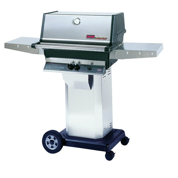 """Heritage TJK Gas Grill - Stainless Steel Column 8"""" Wheeled Cart image number 0"""