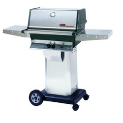 """Heritage TJK Gas Grill - Stainless Steel Column 8"""" Wheeled Cart"""
