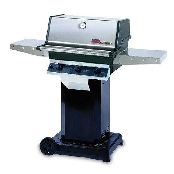 "Heritage TRG2 Gas Grill - Black Column 6"" Wheeled Cart image number 0"