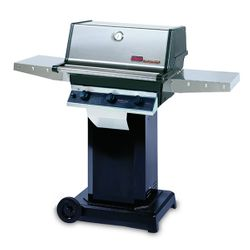 """Heritage TRG2 Gas Grill - Black Column 6"""" Wheeled Cart"""