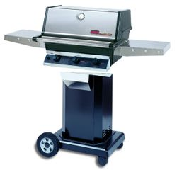 """Heritage TRG2 Gas Grill - Black Column 8"""" Wheeled Cart"""