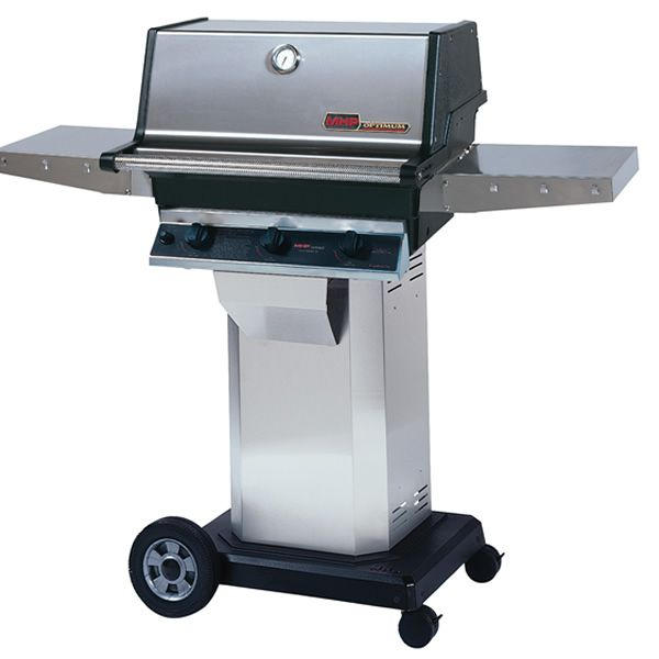 "Heritage TRG2 Gas Grill - Stainless Steel Column 8"" Wheeled Cart image number 0"