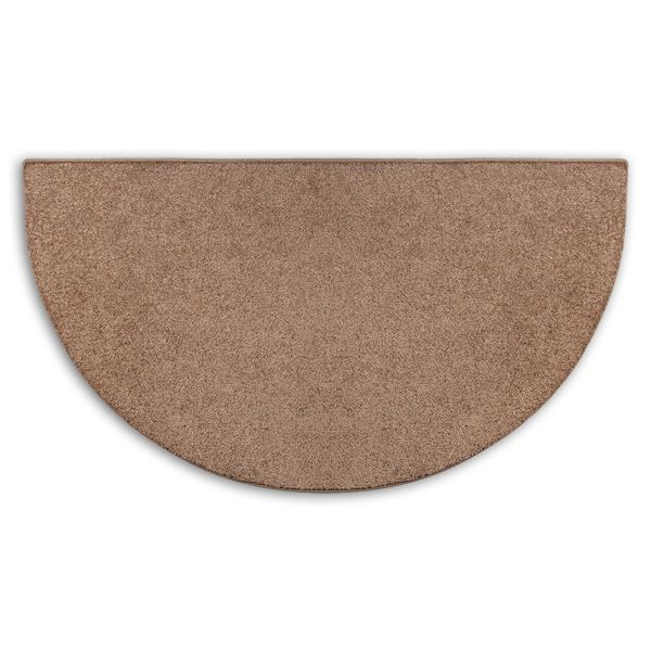 Hickory Flame Half Round Polyester Fireplace Hearth Rug - 4' image number 0