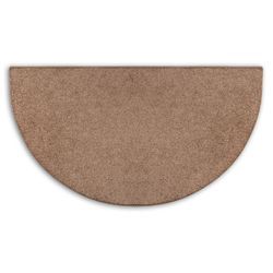Hickory Flame 4' Half Round Polyester Fireplace Hearth Rug