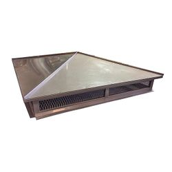 Hip and Ridge Chimney Cap - Stainless Steel