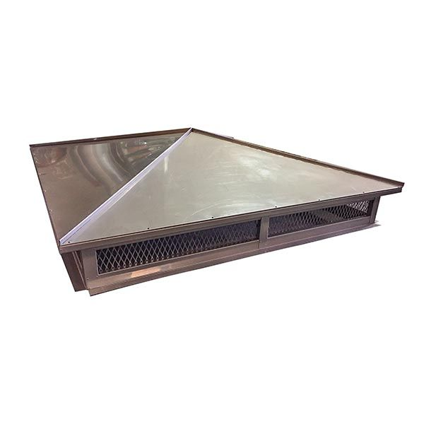 Hip and Ridge Chimney Cap - Stainless Steel image number 0