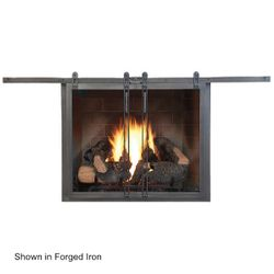 Hudson Roller Fireplace Glass Door