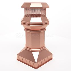 Imperial Copper Chimney Pot