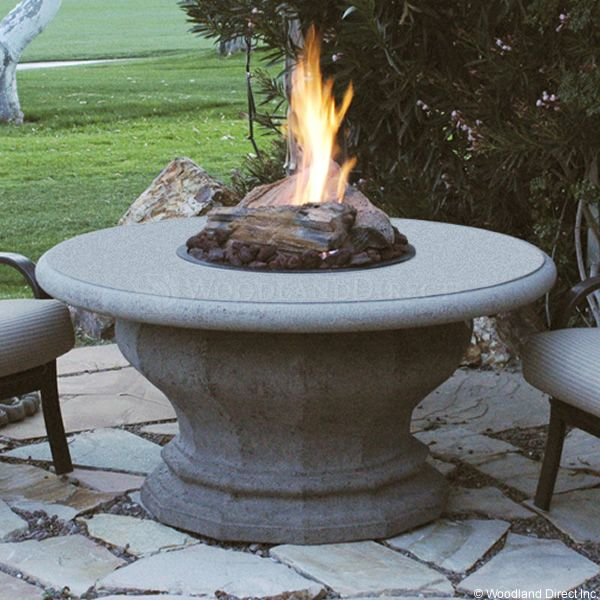 Inverted Gas Fire Pit Table with Concrete Top image number 0