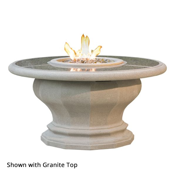 Inverted Gas Fire Pit Table with Concrete Top image number 1