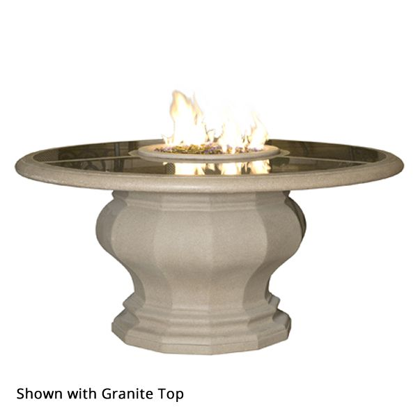 Inverted Dining Gas Fire Pit Table with Concrete Top image number 1