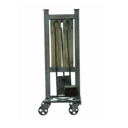 Industrial Roller Fireplace Tool Set