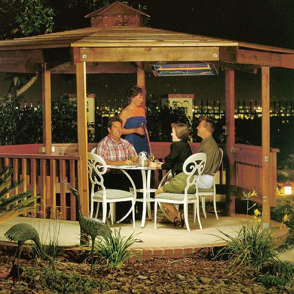 """Infratech 4000 Watt W Series Commercial Wall-Mount Patio Heater - 61 1/4"""" image number 5"""