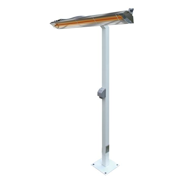 "Infratech 5000 Watt WD Series Commercial Pole-Mount Patio Heater - 39"" image number 0"