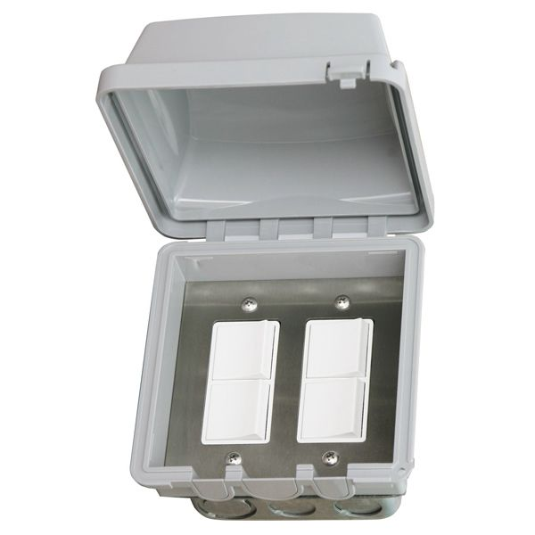 Infratech In-Wall Dual Duplex Switch for Flush Mounting image number 0