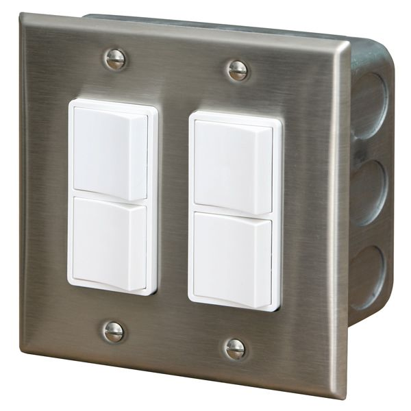 Infratech In-Wall Dual Duplex Switch image number 0