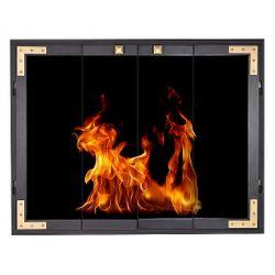 Cast Strong ZC Fireplace Glass Door