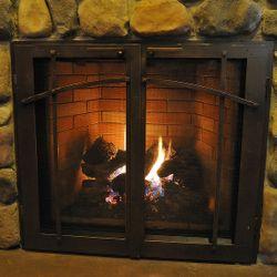 Classic Masonry Fireplace Glass Door