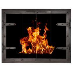 Forge Crest Masonry Fireplace Glass Door