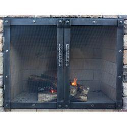 Luxe Masonry Fireplace Glass Door