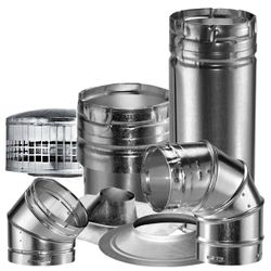 """Metal-Fab Double Wall B-Vent Chimney Pipe - 10"""""""