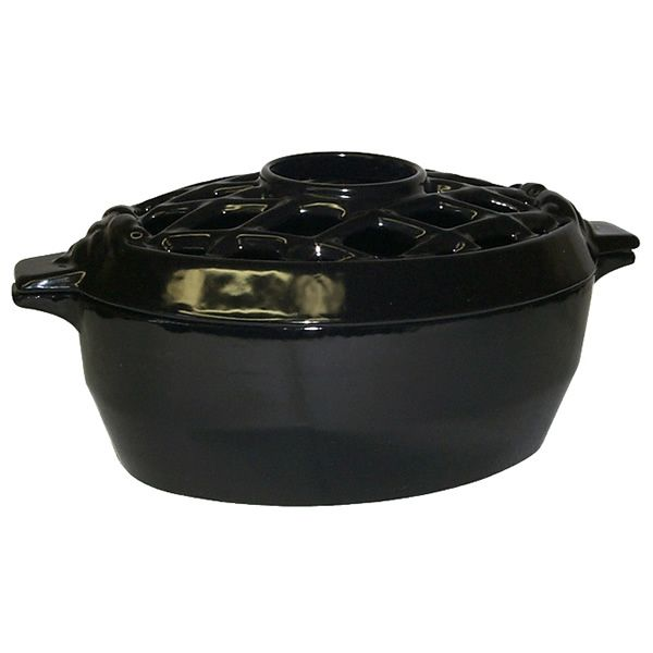 Lattice Wood Stove Steamer - Jet Black image number 0
