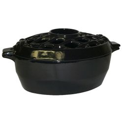 Jet Black Lattice Wood Stove Steamer