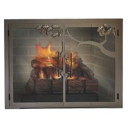 Oak Tree ZC Fireplace Glass Door