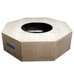 Octagon Unfinished Gas Fire Pit - 45""