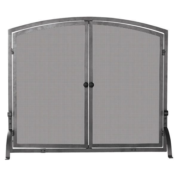"Olde World Single Panel Iron Fireplace Screen - 44"" x 34"" image number 0"