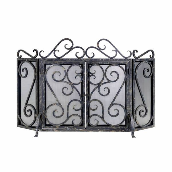Oliver Cast Iron Fireplace Screen image number 0