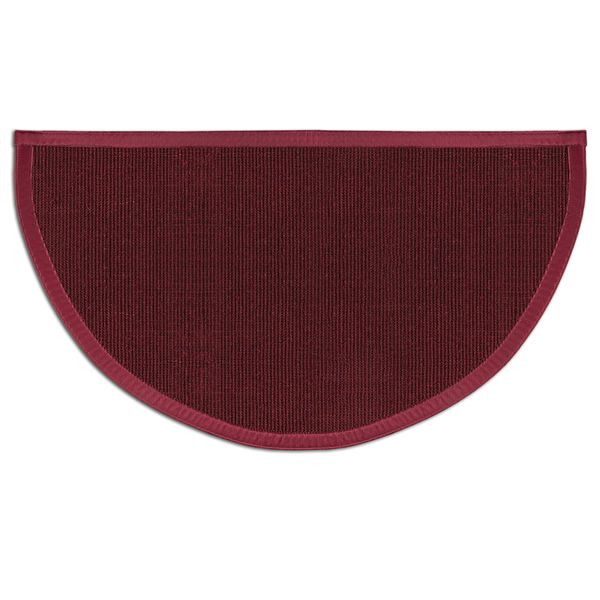 Oxblood Sunset Natural Sisal Half Round Rug image number 0