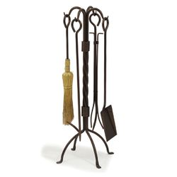 Oxford Twisted Iron Fireplace Tool Set