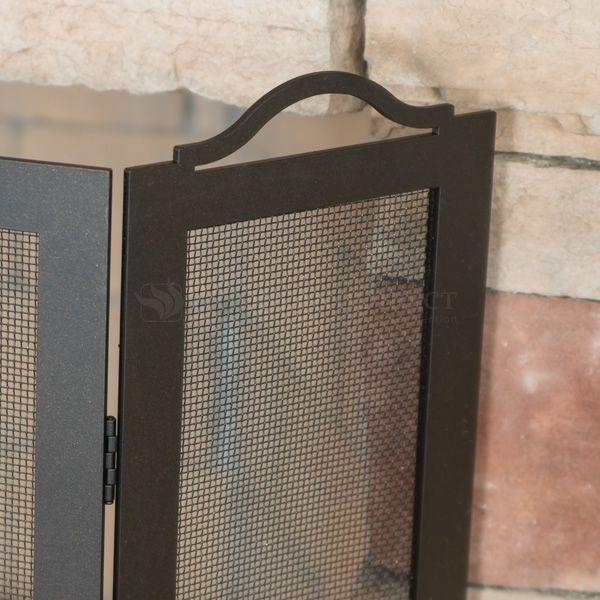 "Oxford Three Panel Fireplace Screen - 8"" x 30"" x 30"" image number 2"
